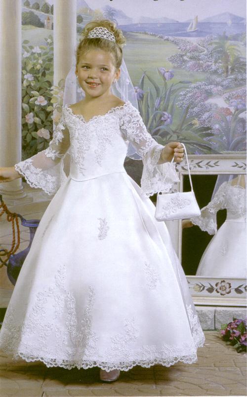 (Cod: flpcg069) Vestido confeccionado en satin y encaje bordado.